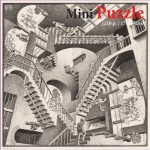Puzzelman-830 Mini Puzzle - MC Escher - Relativity
