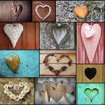 Holzpuzzle - Collage - Love