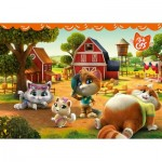 Ravensburger-03015 Giant Floor Puzzle - 44 Cats