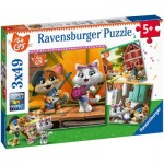 Ravensburger-05013 3 Puzzles - 44 Cats