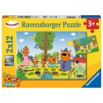 Ravensburger-05079 2 Puzzles - Kid e Cats