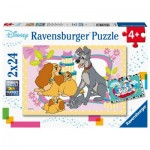 Ravensburger-05087 2 Puzzles - Beauty and the Tramp - 101 Dalmatians