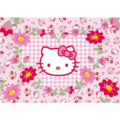 Puzzle Ravensburger-05262 Hello Kitty im Blumenmeer