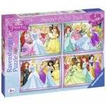 Ravensburger-07011 4 Puzzles - Disney Princess