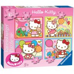 Ravensburger-07256 4 Puzzles - Hello Kitty