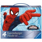 Ravensburger-07262 4 Puzzles - Spiderman