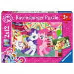 Ravensburger-07600 2 Puzzles - My Little Pony