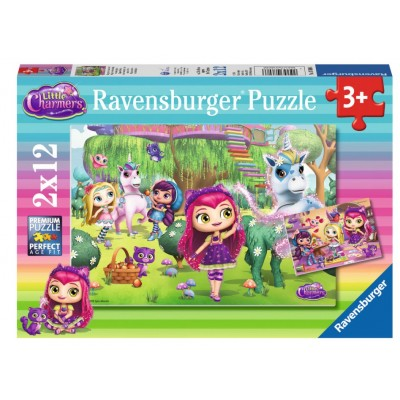 Ravensburger-07608 2 Puzzles - Little Charmers