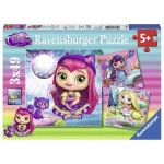 Ravensburger-08009 3 Puzzles - Little Charmers