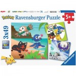 Ravensburger-08019 3 Puzzles - Pokemon