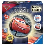 Ravensburger-11833 3D Puzzle mit LED - Cars 3