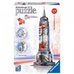 Ravensburger-12583 3D Puzzle - Empire State Building Flag Edition