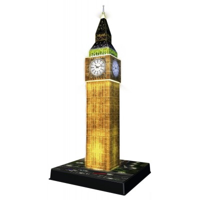 Ravensburger-12588 3D Puzzle mit Led - Big Ben
