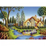 Puzzle  Ravensburger-13567 XXL Teile - Cottage Dream
