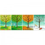 Puzzle  Ravensburger-14706 Four Seasons