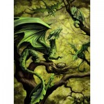 Puzzle  Ravensburger-14789 Walddrache By Anne Stokes