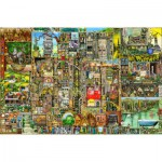 Puzzle  Ravensburger-17430 Colin Thompson: Skurrile Stadt