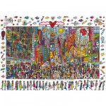 Puzzle  Ravensburger-19069 James Rizzi: Times Square - Everyone should go there