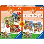 Ravensburger-20676 Multipack - Memory and 3 Puzzles - 44 Cats