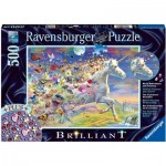 Brilliant Puzzle - Schmetterling Einhorn