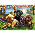 Puzzle   XXL Teile - Hundepicknick