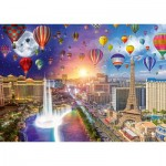Puzzle  Schmidt-Spiele-59907 Lars Stewart - Las Vegas - Night and Day