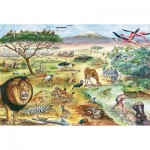 Puzzle   Tiere in Ostafrika