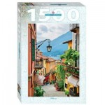 Puzzle  Step-Puzzle-83065 Street view in Bellagio and lake Como, Italy