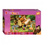 Puzzle  Step-Puzzle-97018 Masha and the Bear
