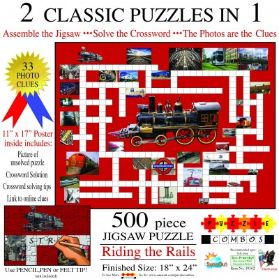 Sunsout-10162 Irv Brechner - Puzzle Combo: Riding the Rails