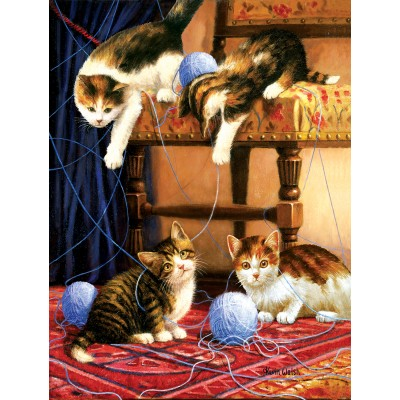 Puzzle Sunsout-13339 Kevin Walsh - Balls of Yarn