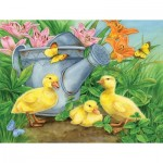 Puzzle  Sunsout-16078 Jane Maday - Ducklings and Butterflies