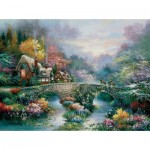 Puzzle  Sunsout-18030 James Lee - Peaceful Cottage