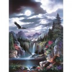 Puzzle  Sunsout-18048 James Lee - Moonlit Eagle