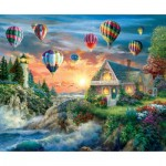 Puzzle  Sunsout-19285 Nicky Boehme - Balloons Over Sunset