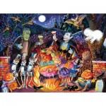 Puzzle  Sunsout-21831 Bill Bell - Monster Party Time