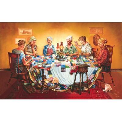 Puzzle Sunsout-25269 Les Ray - A Quilting Party