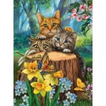 Puzzle  Sunsout-28948 XXL Teile - Tom Wood - Fraidy Cats