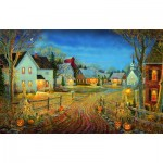 Puzzle  Sunsout-29124 Sam Timm - A Country Town in Autumn