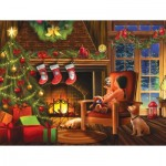 Puzzle  Sunsout-29738 XXL Teile - Dreaming of Christmas