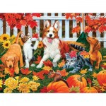 Puzzle  Sunsout-30407 XXL Teile - The Leaf Collectors