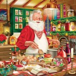 Puzzle  Sunsout-30706 Rafael Trujillo - Cooking Santa
