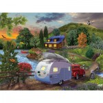 Puzzle  Sunsout-31517 Bigelow Illustrations - Campers Coming Home