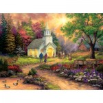 Puzzle  Sunsout-33709 XXL Teile - Chuck Pinson - Country Church