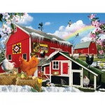 Puzzle  Sunsout-34988 XXL Teile - Spring Chickens