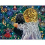 Puzzle  Sunsout-35806 XXL Teile - Puppy for Christmas