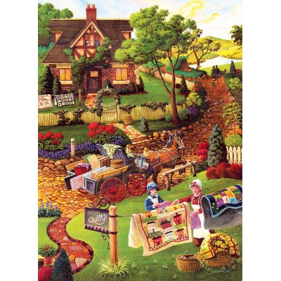 Puzzle Sunsout-38883 XXL Teile - Joseph Burgess - Mary's Quilt Country