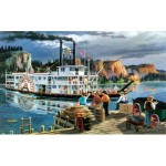 Puzzle  Sunsout-39521 XXL Teile - Ken Zylla - Riverboat