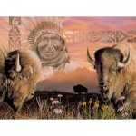 Puzzle  Sunsout-40064 XXL Teile - Keeper of the Plains