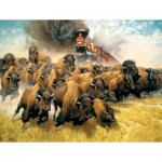 Puzzle  Sunsout-44237 XXL Teile - The Coming of the Iron Horse